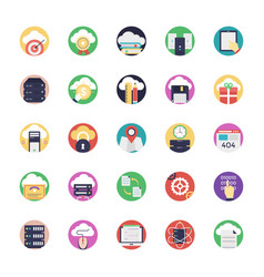 Database and cloud technology icons vector