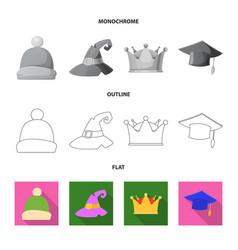 Design of headwear and cap symbol set of vector