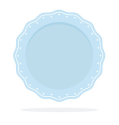 dish in form a wavy circle with a pattern vector image