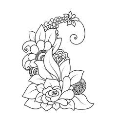 Doodle art flowers vector image