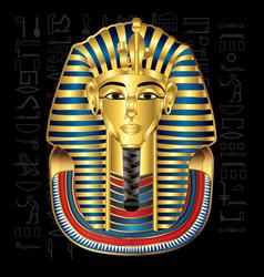 Egypt tutankhamun pharaoh vector