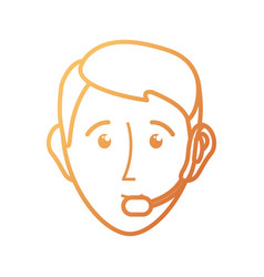 face man vector image
