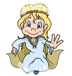 Fairy With Bubbles vector image vector image