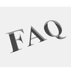 faq text design vector image