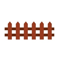 fence farm isolated icon vector image
