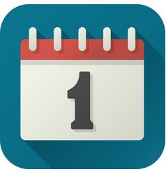 flat icon toy calendar vector image