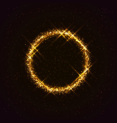 Golden ring made of stars vector