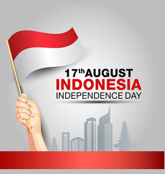 Happy independence day indonesia 17th august vector