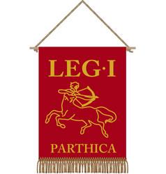 Legio i parthica standard vector