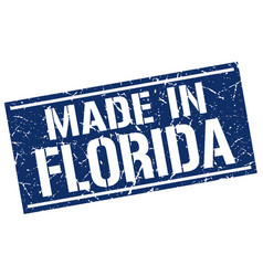 Made in florida stamp vector