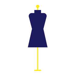 Mannequin geometric isolated on vector