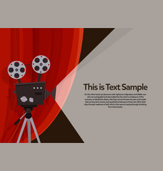 movie projection retro cinema flyer vector image