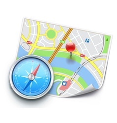 navigation concept vector image vector image