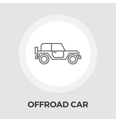 Offroad car flat icon vector image