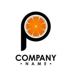 p letter logo design logo set letter logo vector image