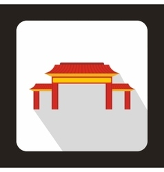 Pagoda icon flat style vector image