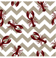 pattern with lobsters vector image