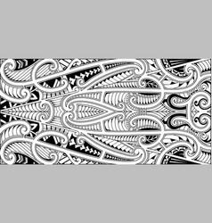 polynesian ethnic style ornament vector image