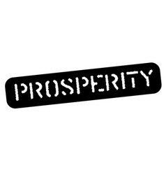 Prosperity black stamp vector