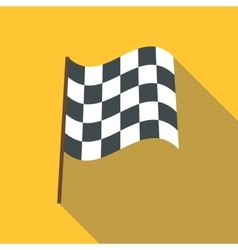 Racing flag icon flat style vector