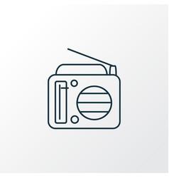 radio icon line symbol premium quality isolated vector image