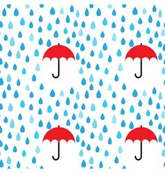 Rain drops and umbrella seamless pattern vector