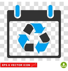 Recycle calendar day eps icon vector