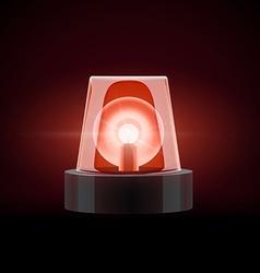 Red siren 3d object eps 10 vector