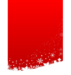 Red snowflake scene vector
