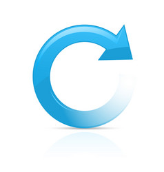 Refresh or reload symbol - blue circular arrow vector