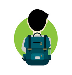 school student bag cartoon graphic design vector image
