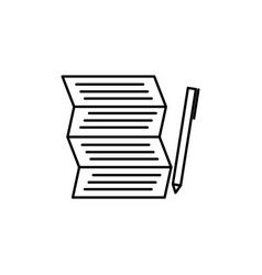 Shoping to do list with pen icon vector
