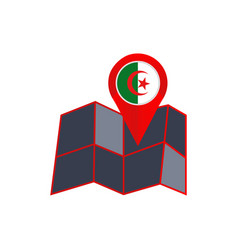 Simple algeria map pins are isolated with country vector
