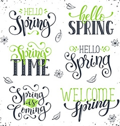Spring time wording vector