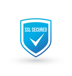 ssl protection secure blue shield isolated on vector image