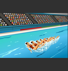 synchronized swimming competition vector image