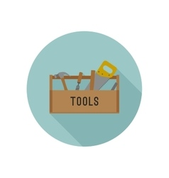 Tools box flat icon vector