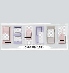 trendy editable template for social networks story vector image