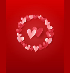 valentines day greeting card - template for vector image