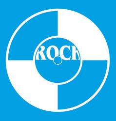 Vinyl icon white vector