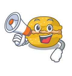 with megaphone banana macarons isolated on a vector image