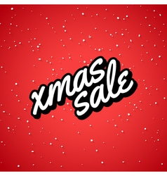 Xmas sale christmas sale card with lettering vector