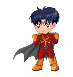 chibi style of a superhero vector image vector image