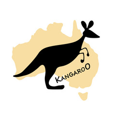 kangaroo sketch for your design vector image