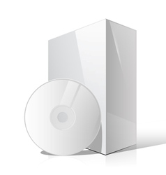 White Glossy Package Box vector image vector image