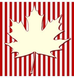 White Maple Leaf vector image