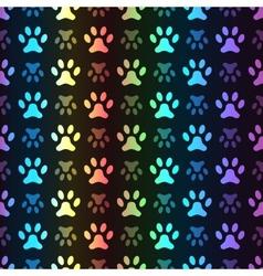 Animal seamless spectrum pattern of paw vector image