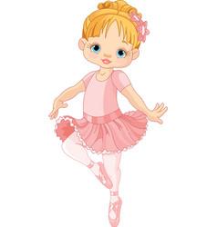 Cute little ballerina vector image vector image