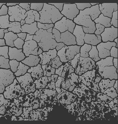 gray cracks background vector image vector image