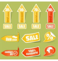 sticker and tag elements vector image